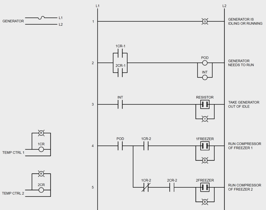 Chiller Ladder Diagram Trusted Schematics Wiring To A Walk In Freezer Cooling System